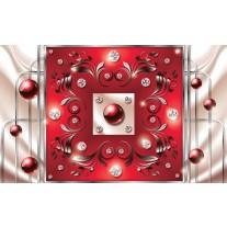 Fotobehang Papier Modern, Slaapkamer | Zilver, Rood | 368x254cm