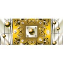Fotobehang Modern, Slaapkamer | Zilver, Geel | 250x104cm