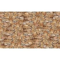 Fotobehang Papier Muur, Stenen | Bruin | 254x184cm