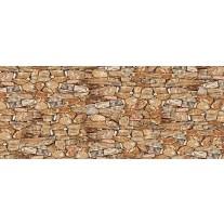 Fotobehang Muur, Stenen | Bruin | 250x104cm