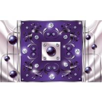 Fotobehang Papier Modern, Slaapkamer | Paars, Zilver | 254x184cm