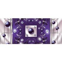 Fotobehang Modern, Slaapkamer | Paars, Zilver | 250x104cm