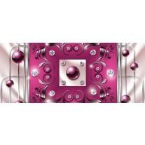 Fotobehang Modern, Slaapkamer | Roze, Zilver | 250x104cm