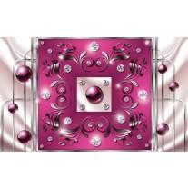 Fotobehang Papier Modern, Slaapkamer | Roze, Zilver | 368x254cm