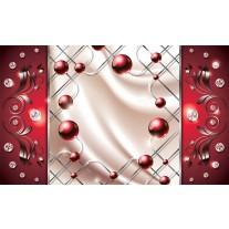 Fotobehang Papier Modern, Slaapkamer | Zilver, Rood | 254x184cm