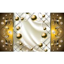 Fotobehang Papier Modern, Slaapkamer | Zilver, Goud | 254x184cm