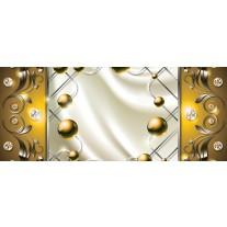 Fotobehang Modern, Slaapkamer | Zilver, Goud | 250x104cm