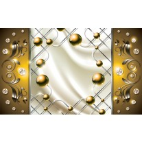 Fotobehang Modern, Slaapkamer | Zilver, Goud | 152,5x104cm