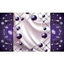 Fotobehang Papier Modern, Slaapkamer | Zilver, Paars | 368x254cm