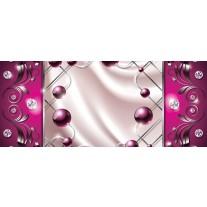 Fotobehang Modern, Slaapkamer | Zilver, Roze | 250x104cm