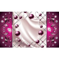 Fotobehang Papier Modern, Slaapkamer | Zilver, Roze | 368x254cm