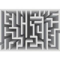 Fotobehang Papier Design, Doolhof | Grijs | 368x254cm
