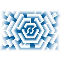 Fotobehang Papier Design | Blauw | 368x254cm