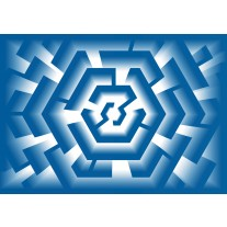 Fotobehang Papier Design | Blauw | 254x184cm