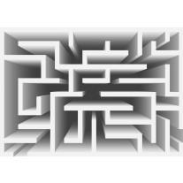 Fotobehang Papier Design, Doolhof | Grijs | 254x184cm