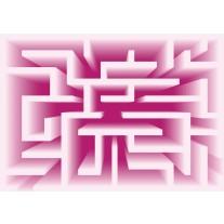 Fotobehang Papier Design, Doolhof | Roze | 368x254cm