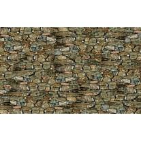 Fotobehang Papier Stenen, Muur | Groen | 254x184cm