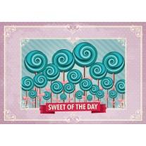 Fotobehang Papier Snoepjes | Roze, Turquoise | 254x184cm