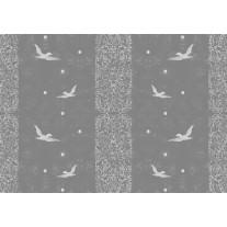 Fotobehang Papier Vogels | Grijs | 254x184cm