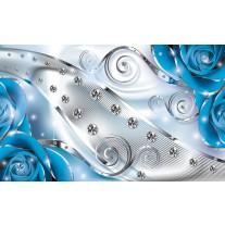 Fotobehang Design, Rozen | Zilver, Blauw | 152,5x104cm