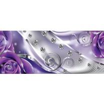 Fotobehang Design, Rozen | Zilver, Paars | 250x104cm