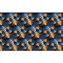 Fotobehang Papier Design | Bruin, Blauw | 254x184cm