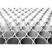 Fotobehang Papier 3D | Zilver, Grijs | 254x184cm