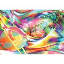Fotobehang Papier Planeten, Abstract | Geel, Groen | 254x184cm