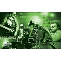 Fotobehang Papier Muziek, Jazz | Groen | 254x184cm