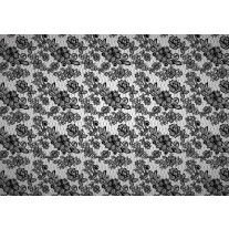 Fotobehang Papier Bloemen, Slaapkamer | Grijs | 368x254cm