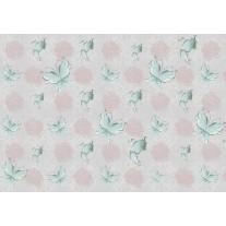 Fotobehang Papier Vlinder, Rozen | Roze, Turquoise | 254x184cm