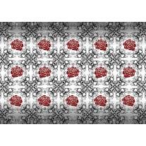 Fotobehang Papier Rozen, Bloemen | Grijs, Rood | 368x254cm