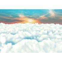 Fotobehang Papier Wolken | Blauw | 368x254cm