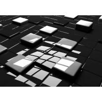 Fotobehang Papier 3D | Zwart, Wit | 368x254cm