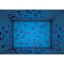 Fotobehang Papier 3D | Blauw, Paars | 254x184cm