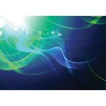 Fotobehang Papier Design | Groen, Blauw | 368x254cm