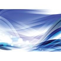 Fotobehang Papier Design | Wit, Blauw | 368x254cm