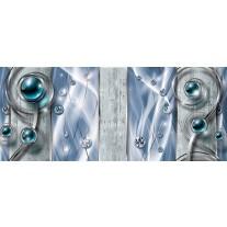 Fotobehang Design, Modern | Blauw | 250x104cm