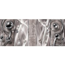 Fotobehang Design, Modern | Zilver | 250x104cm