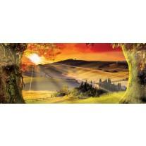 Fotobehang Natuur, Zonsondergang | Oranje | 250x104cm