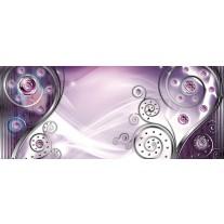 Fotobehang Design, Modern | Paars | 250x104cm