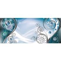 Fotobehang Design | Zilver, Turquoise | 250x104cm