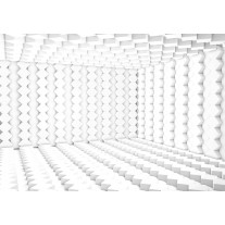 Fotobehang Papier 3D | Wit, Grijs | 368x254cm