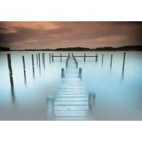 Fotobehang Brug, Natuur | Blauw | 104x70,5cm