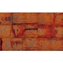 Fotobehang Papier Industrieel, Metaallook | Oranje | 254x184cm