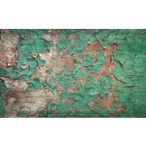 Fotobehang Papier Industrieel, Muur | Groen | 254x184cm
