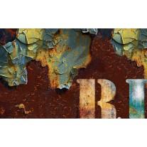 Fotobehang Papier Industrieel | Bruin, Groen | 254x184cm