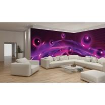 Fotobehang Vlies 3D | Paars, Roze | GROOT 624x219cm