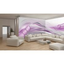 Fotobehang Vlies Design | Paars, Grijs | GROOT 832x254cm