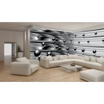 Fotobehang Vlies Design | Zilver, Grijs | GROOT 624x219cm